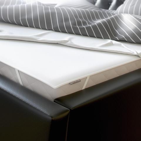 Wizualizacja produktu firmy Comfortbe - nakładka ochronna na łóżko.