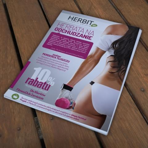 Ulotka informacyjna dla sklepu Herbit