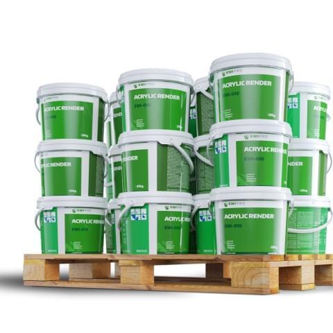 Wizualizacje produktów angielskiego producenta chemii budowlanej EWI Pro.