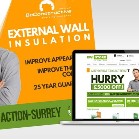 Banner reklamowy www firmy BeConstructive.