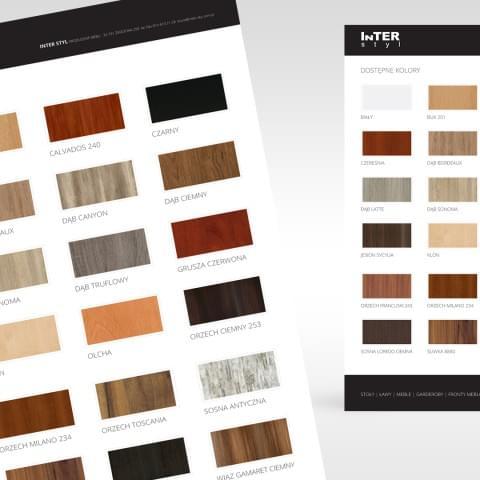Przygotowanie wzornika wybarwień drewna dla firmy Interstyl.