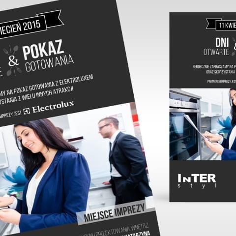 Plakat promocyjny przygotowany dla firmy Interstyl