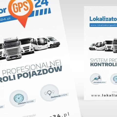 Ulotka promocyjna systemów monitoringu pojazdów.