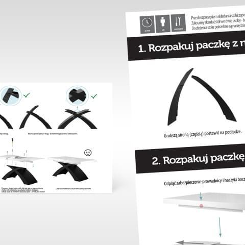 Instrukcja montażu stołu firmy MEblostyl/