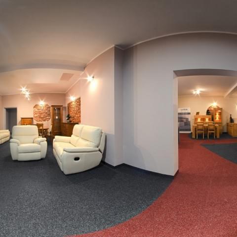 Zdjęcia panoramiczne Galerii Mebli Milano.