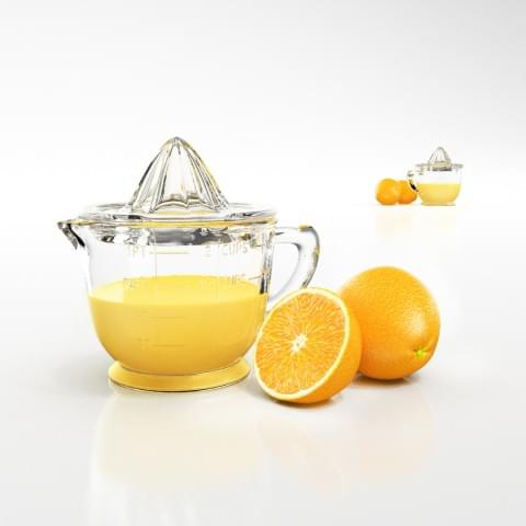 Wizualizacja naturalnego soku z cytryny.